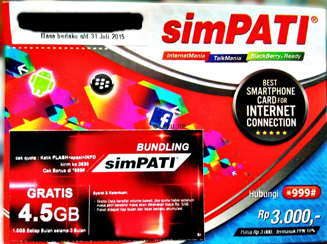 Paket Internet Telkomsel 4,5 GB