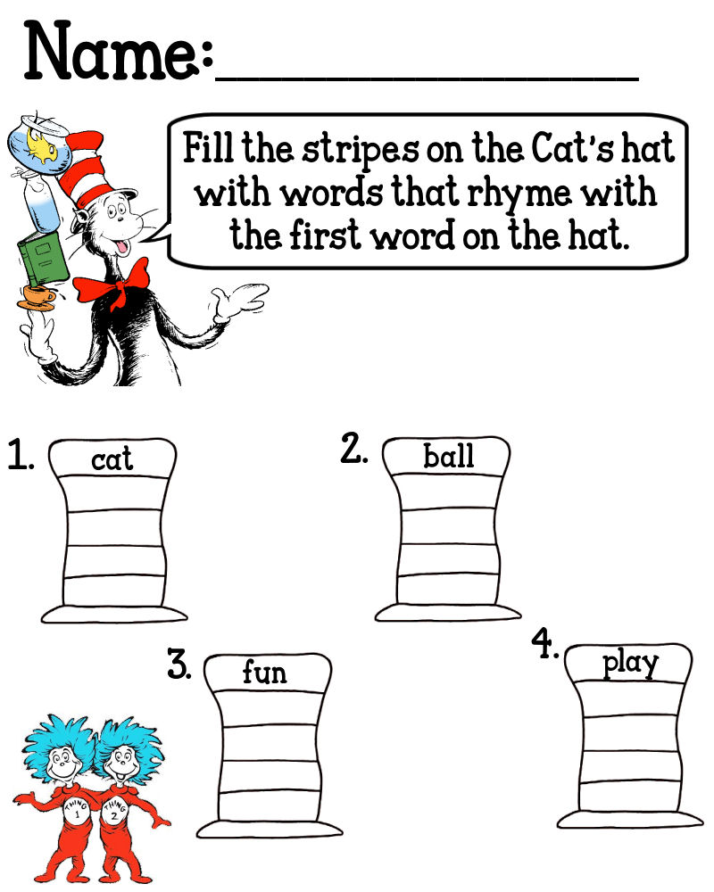 Insane image throughout cat in the hat printable activities
