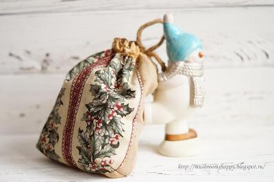 Мешок подарков, snowman, back side