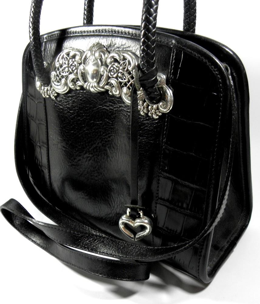 Brighton Mock Croc Leather Vintage Bag