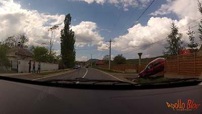 Accident auto la Toplita