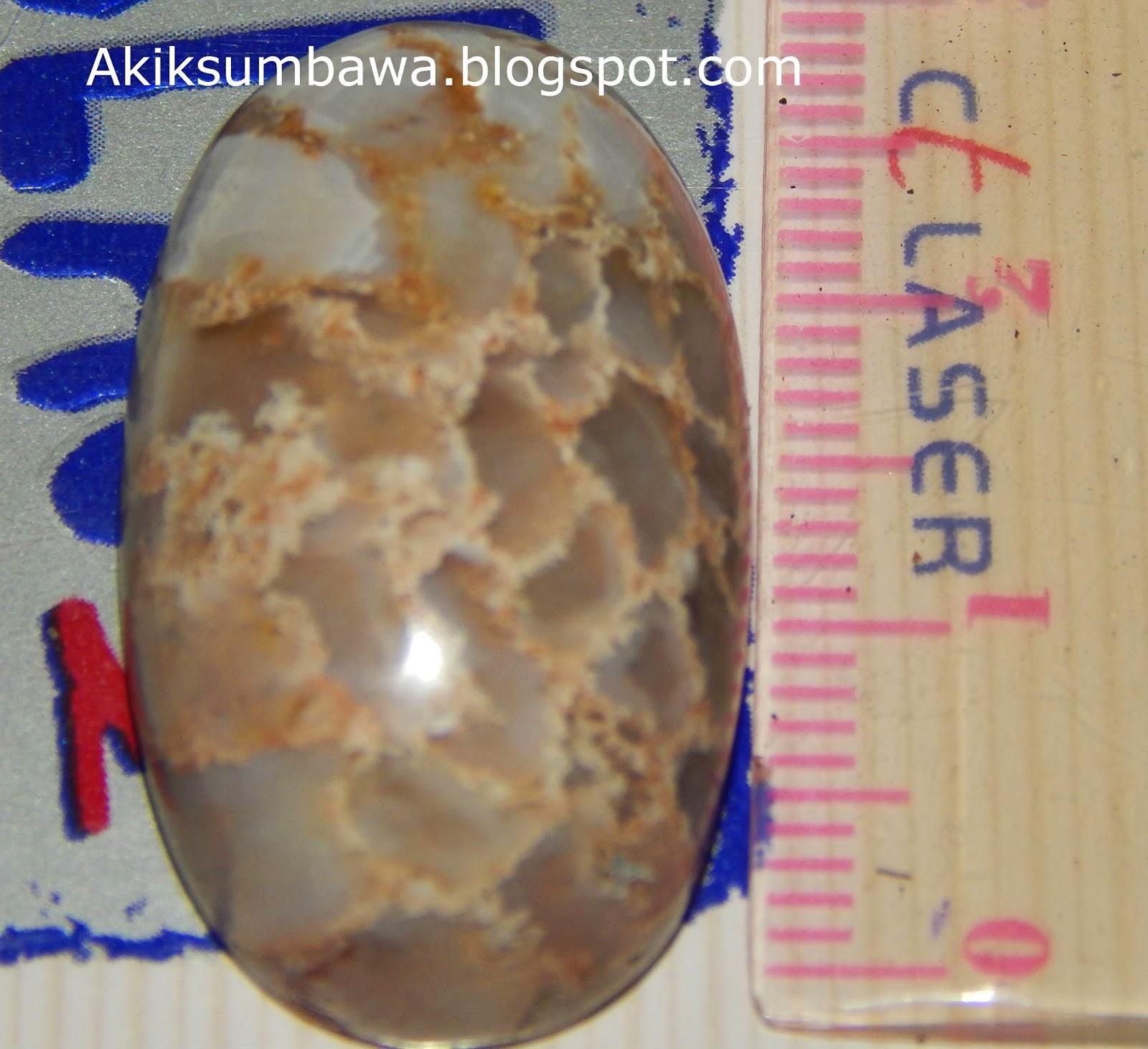 Batu Akik Langka Sisik Naga Kristal Sumbawa