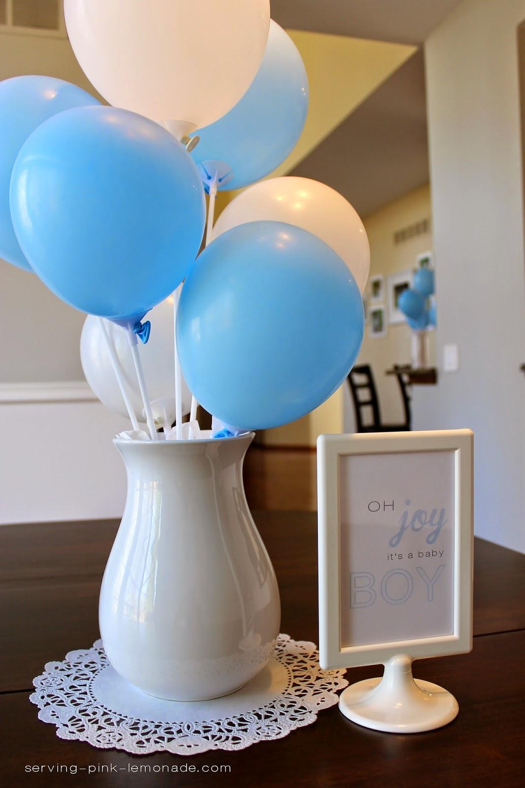 Balloon Baby Shower Cake