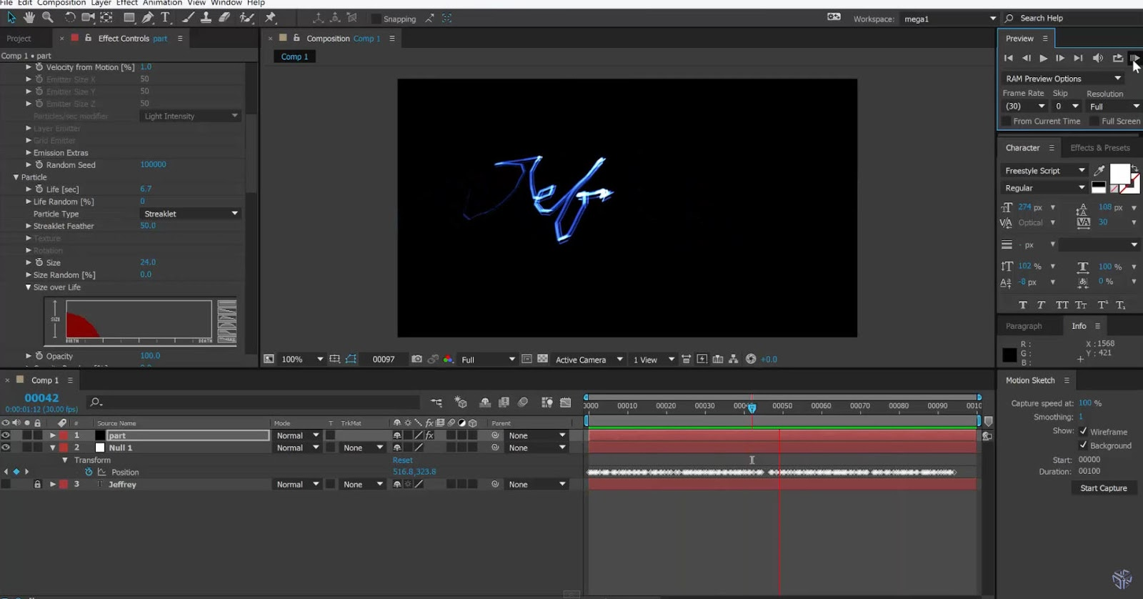 write on after effects