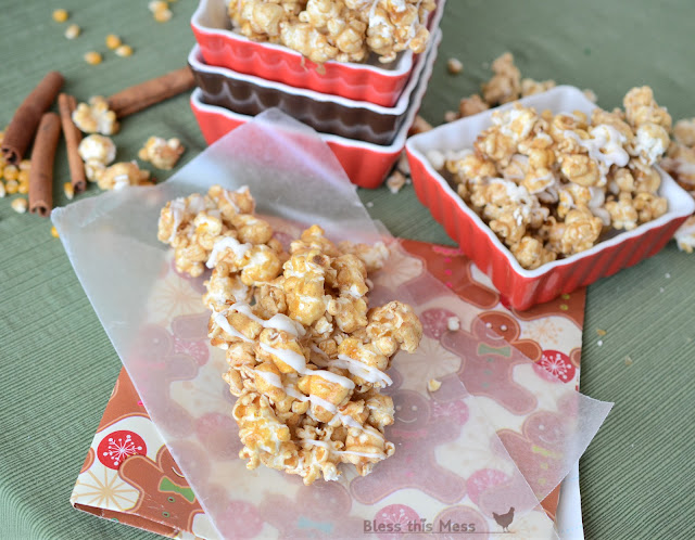 how to make caramel corn, cinnamon caramel corn, gluten free dessert
