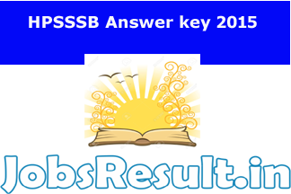 HPSSSB Answer key 2015