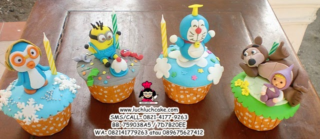 Cupcake Minion, Pororo, Doraemon dan Masha and The Bear