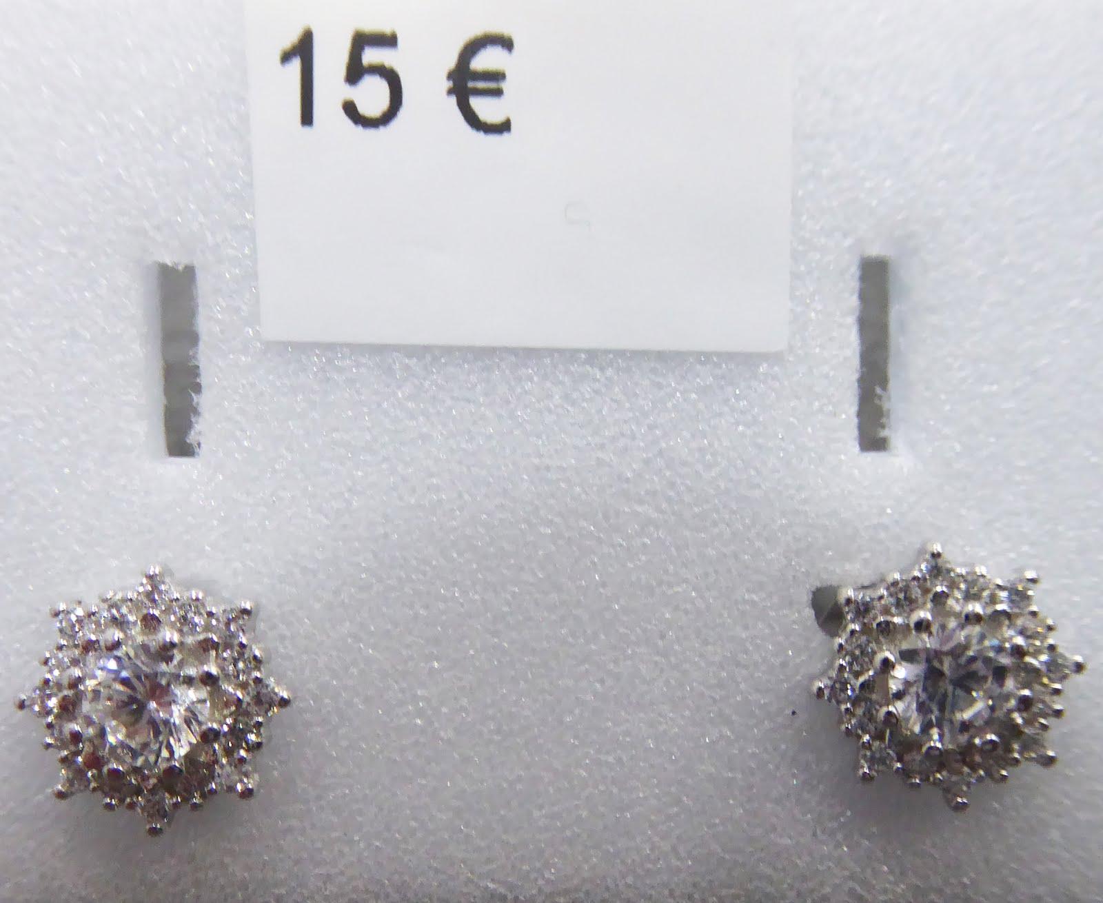 Pendientes de plata y circonita