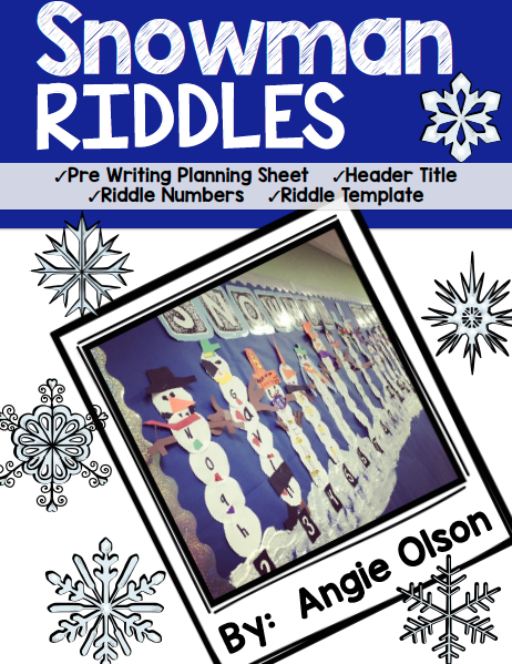 http://www.teacherspayteachers.com/Product/Snowman-Riddles-Craftivity-Writing-Templates-1654826