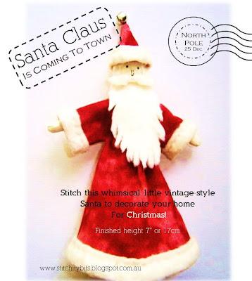 Santa Claus Christmas Craft PDF Sewing Pattern