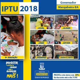 IPTU 2018 GOVERNADOR MANGABEIRA