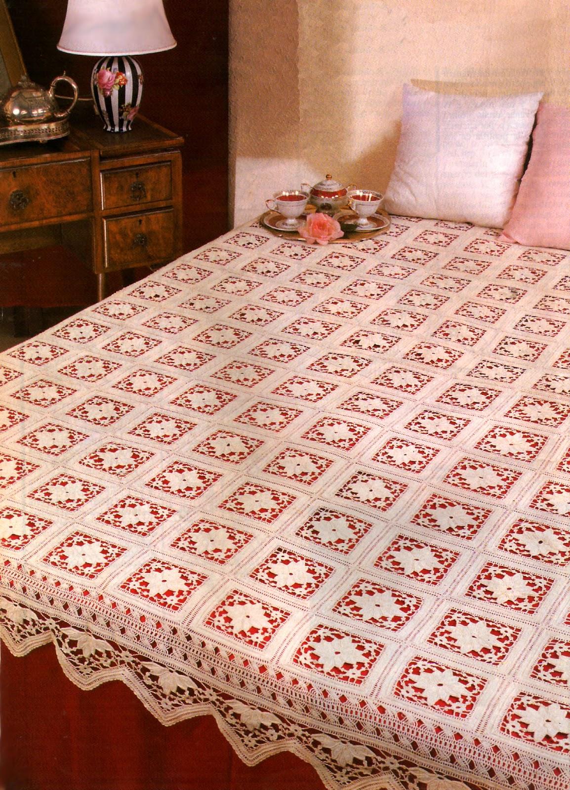 Tejidos artesanales en crochet cubrecama estelar tejido - Colchas de crochet paso a paso ...