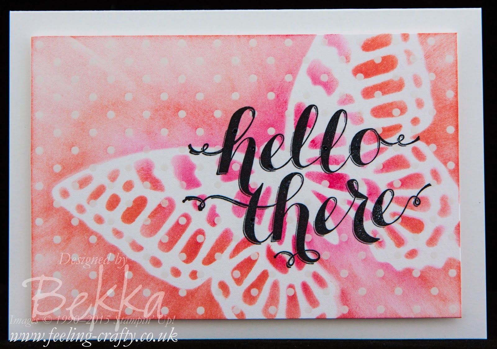 Butterfly Hello Card - Check Out this great blog for lots of ideas and shopping