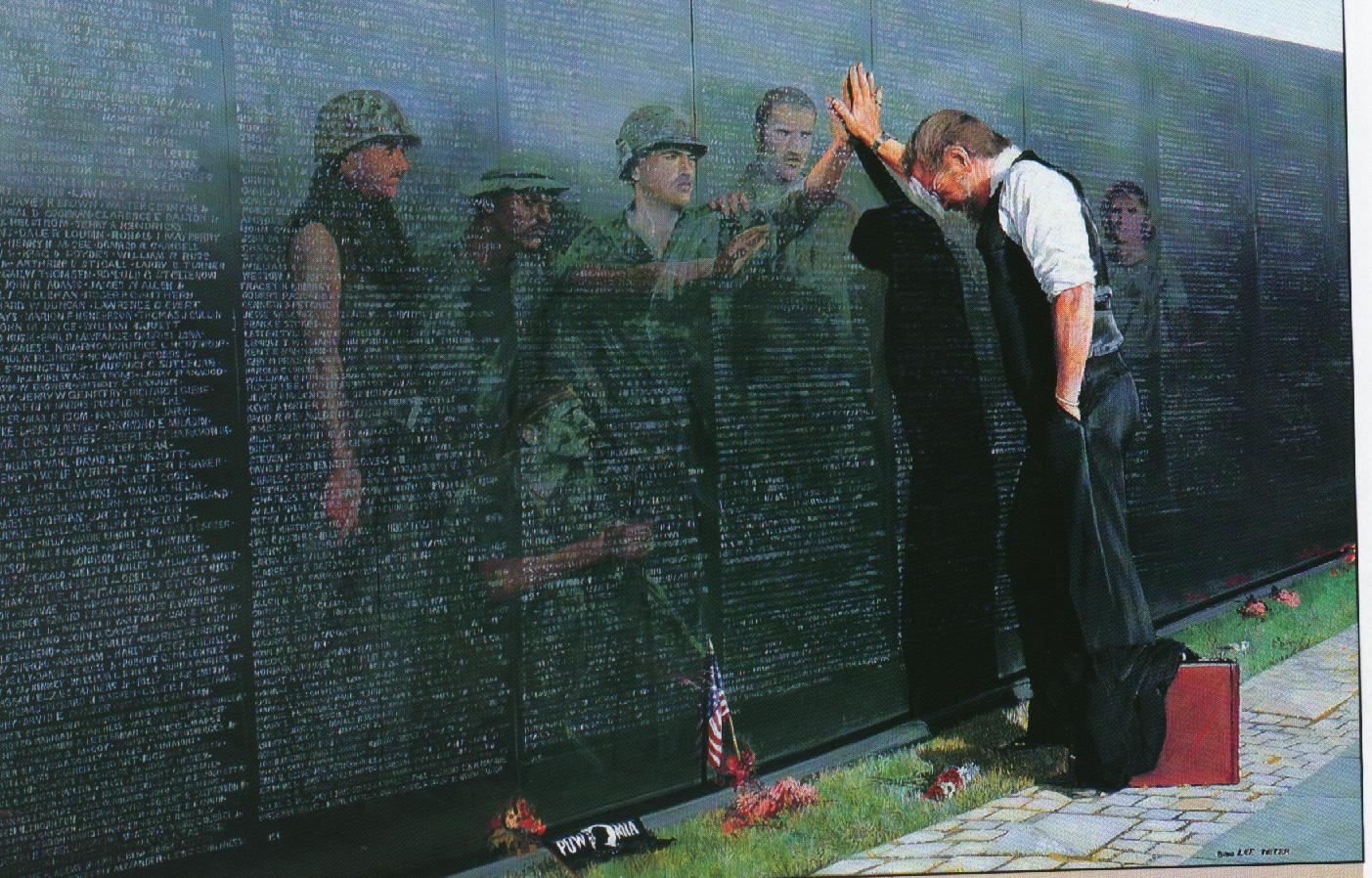 Vietnam Wall : ... of the vietnam wall in washington this photo brought tears to