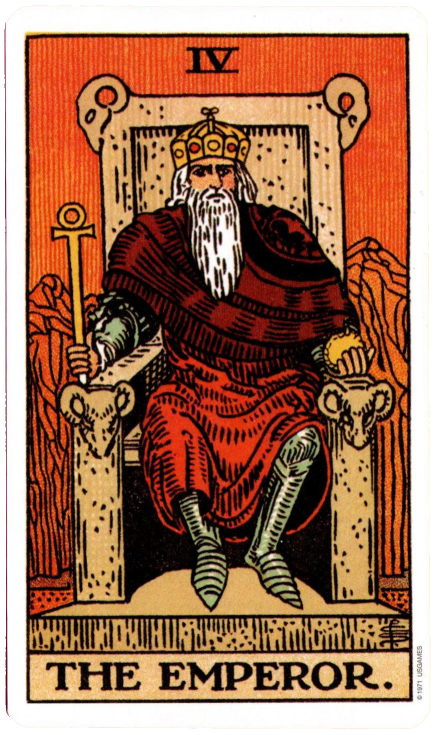 The Original Rider Waite Tarot, The Emperor