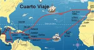 Cuarto y último Viaje de Cristobal Colón. LLegó a Jamaica