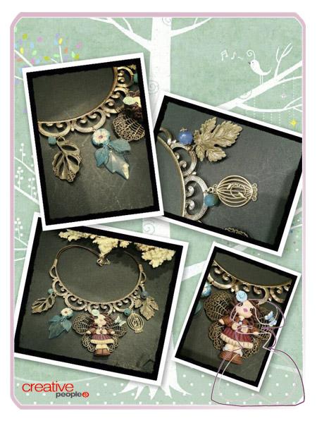 Collar babero mariposa de Sylvia López Morant