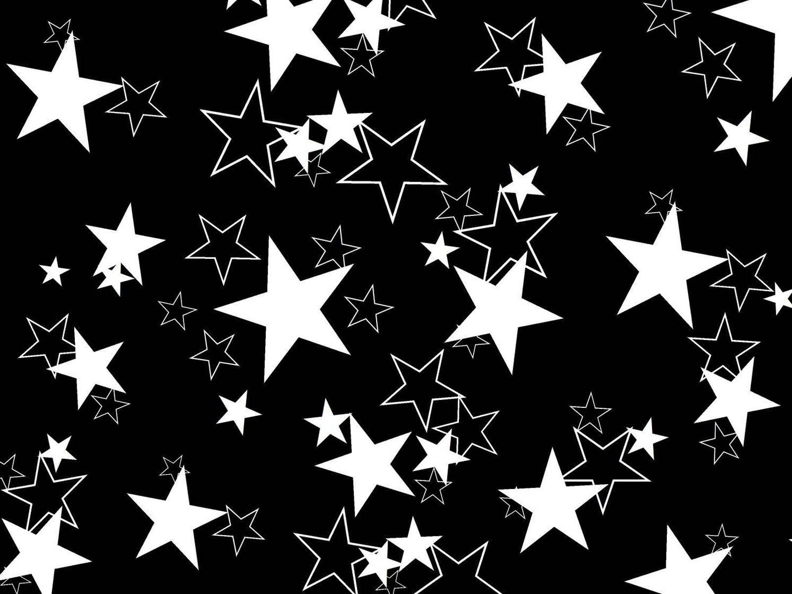 Wallpapers 3d stars wallpapers for Black and white wallpaper 3d