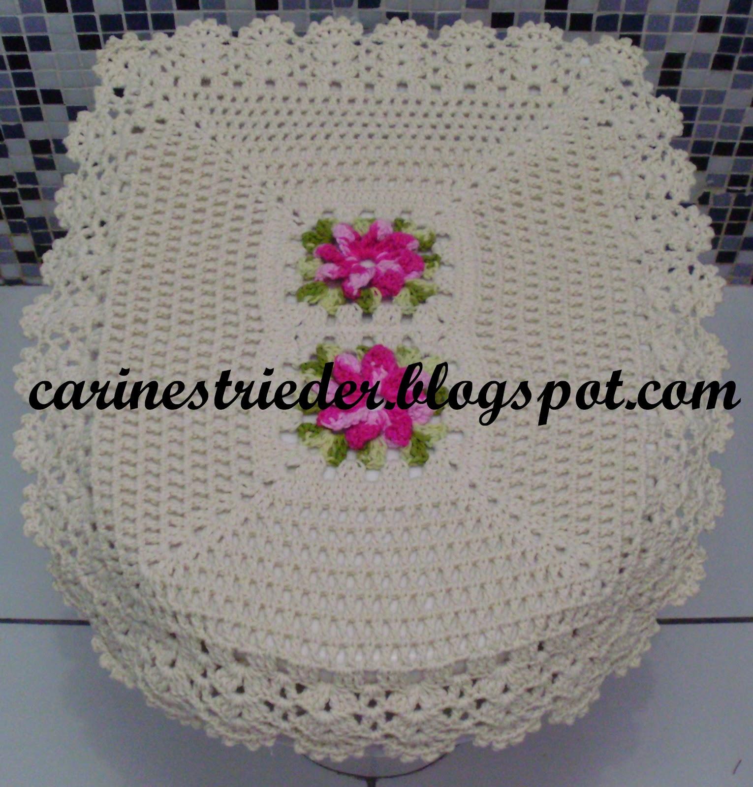 Jogo De Banheiro De Croch     Flores