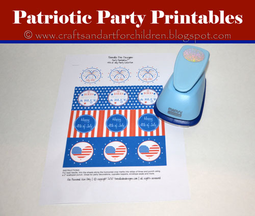 "Free 4th of July 2"" craft punch printables"