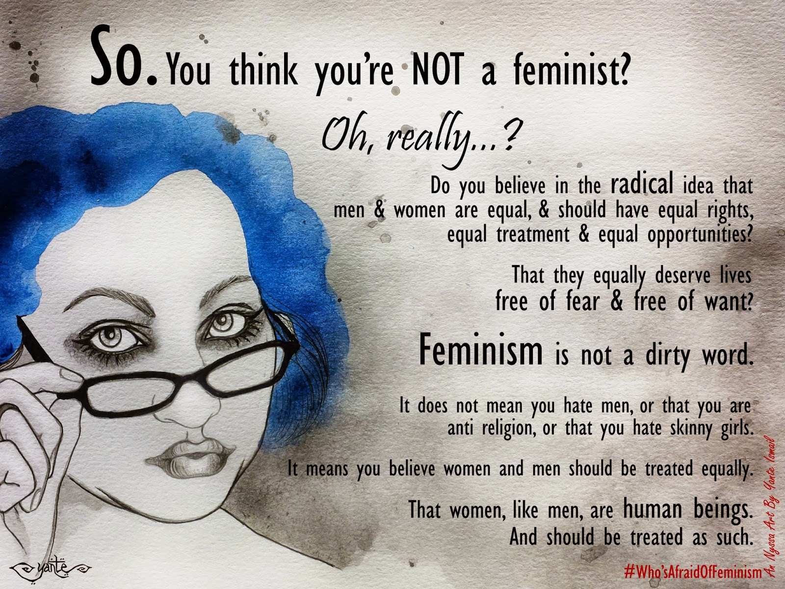 who s afraid of feminism the project an nyssa art by yante ismail add a comment