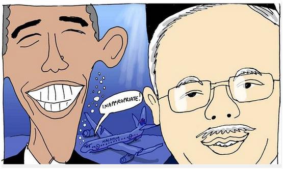 Akhbar China Daily Sindir Gambar Selfie Najib - Obama Kaitkan Dengan MH370