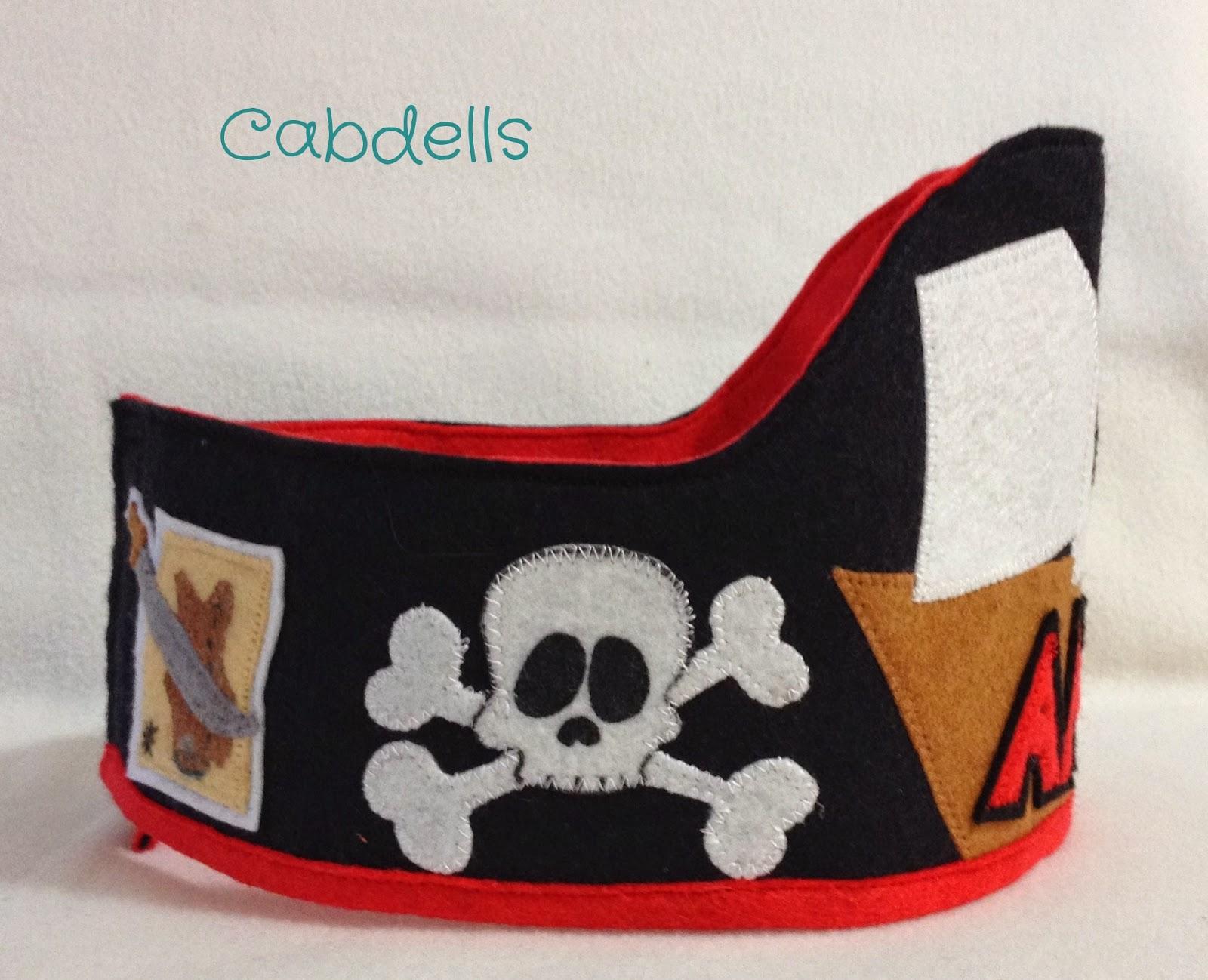 Corona cumpleaños pirata