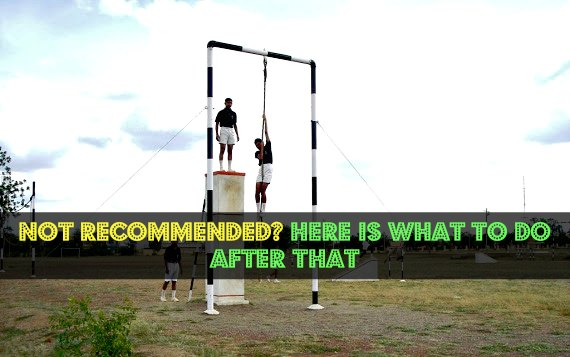 Not Recommended? Here Is What To Do After That