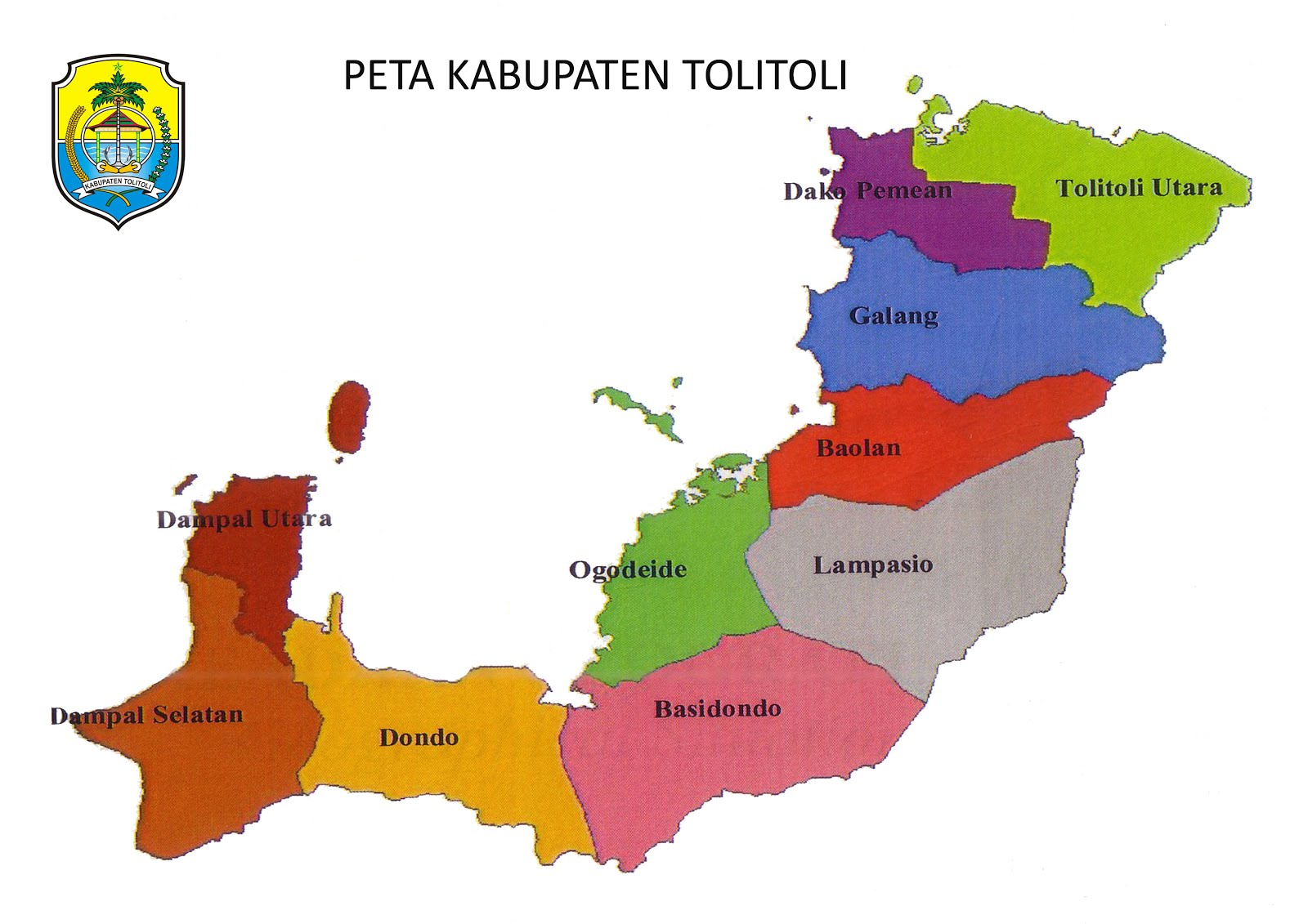 PETA KAB. TOLITOLI
