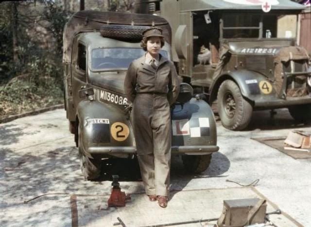 Queen Elizabeth during WWII