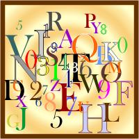 Kumpulan Karakter Angka dan Huruf