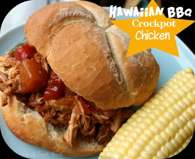 Hawaiian BBQ &amp; Bell Pepper Crockpot Chicken