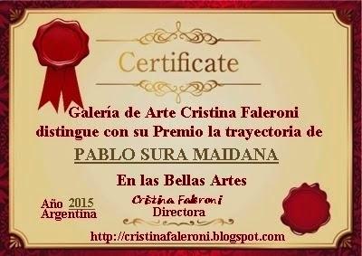 Pablo Sura Maidana - Premiado