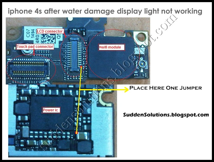 sudden solutions mobiles computers internet iphone 4s after water damage display light not. Black Bedroom Furniture Sets. Home Design Ideas