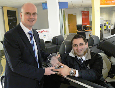 CONNECTIONS: WREXHAM MAN CROWNED CAR SALES EXECUTIVE OF THE YEAR