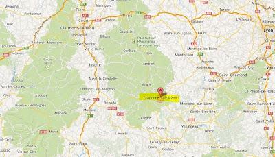 Festival de Craponne sur Arzon, carte