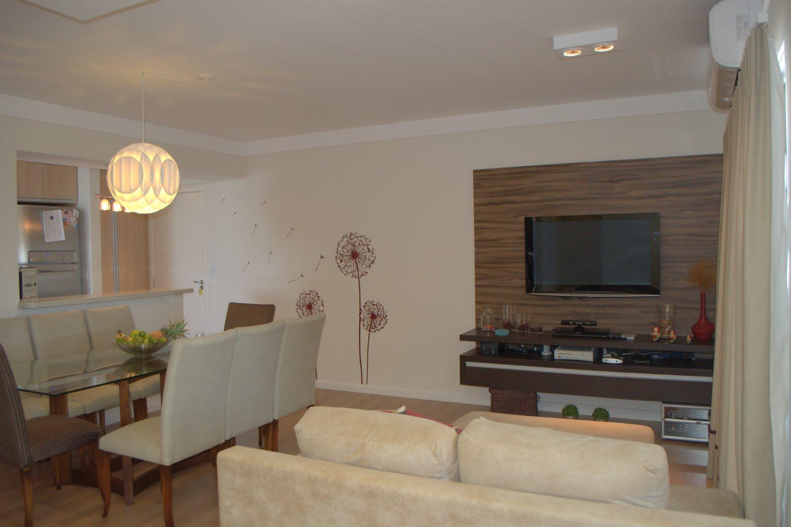 sala integrada c a cozinha sala integrada jantar tv escritório sala  #877044 1600 1065