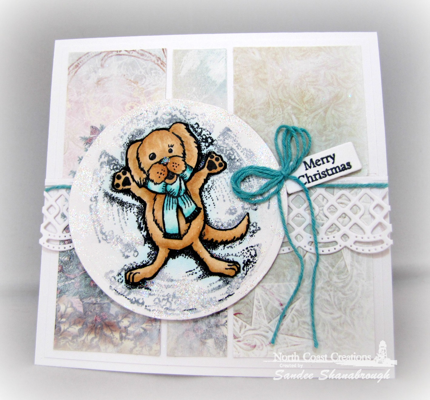 Stamps - North Coast Creations Snow Angel Murphy, Our Daily Bread Designs Custom  Beautiful Borders Dies, ODBD Mini Tag Sentiments, ODBD Custom Mini Tags Dies, ODBD Christmas Paper Collection 2014