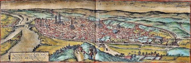 Georg Braun & Frans Hogenberg, Civitates Orbis Terrarum - Rouen 1572