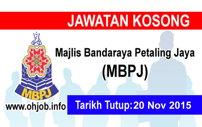 Jawatan Kerja Kosong Majlis Bandaraya Petaling Jaya (MBPJ) logo www.ohjob.info november 2015