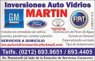 INVERSIONES AUTO VIDRIOS MARTIN en Paginas Amarillas tu guia Comercial
