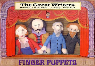 Great writers finger puppets