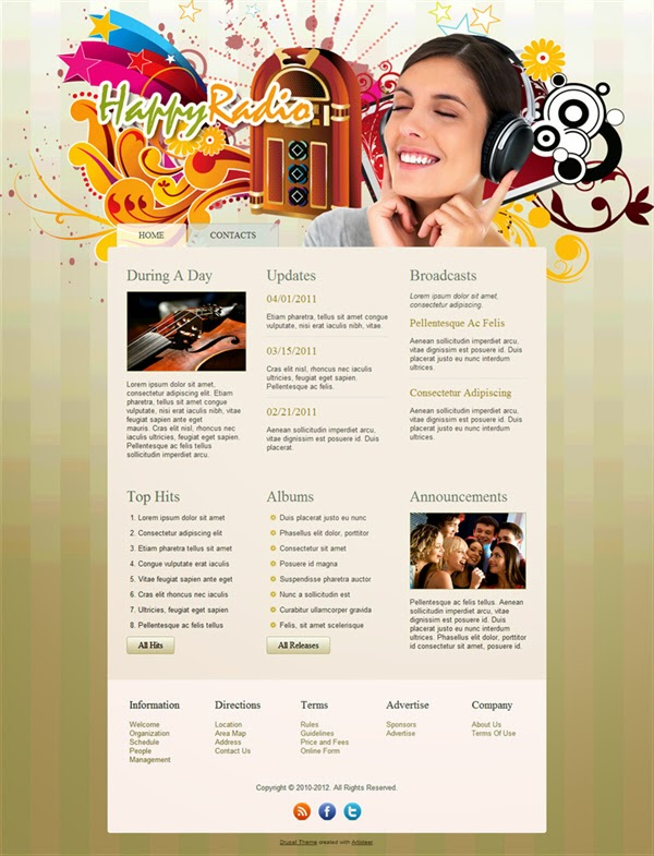 Happy Radio - Free Drupal Theme