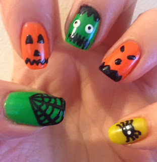 Models Own Neon Halloween Manicure