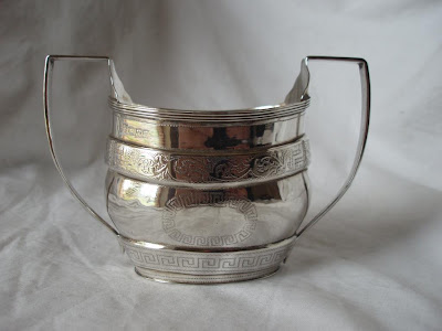 TWO HANDLED SUGAR BOWL STERLING SILVER CHESTER 1902