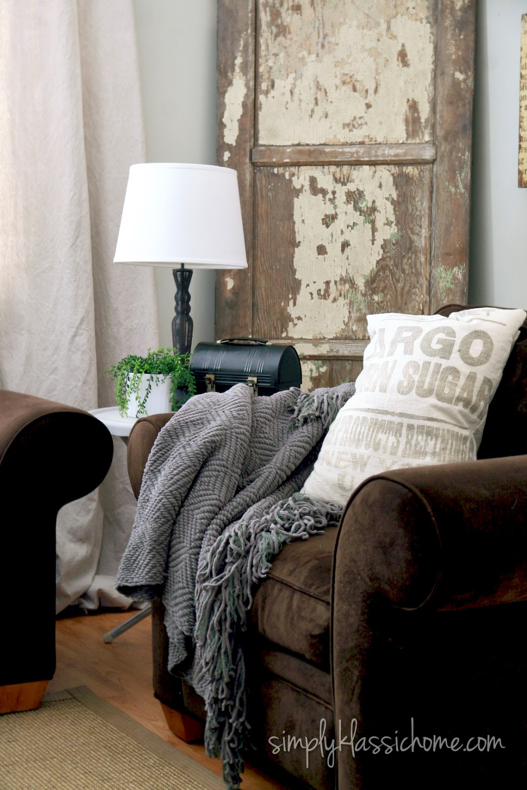 Industrial Blend Living Room Makeover Reveal Yellow