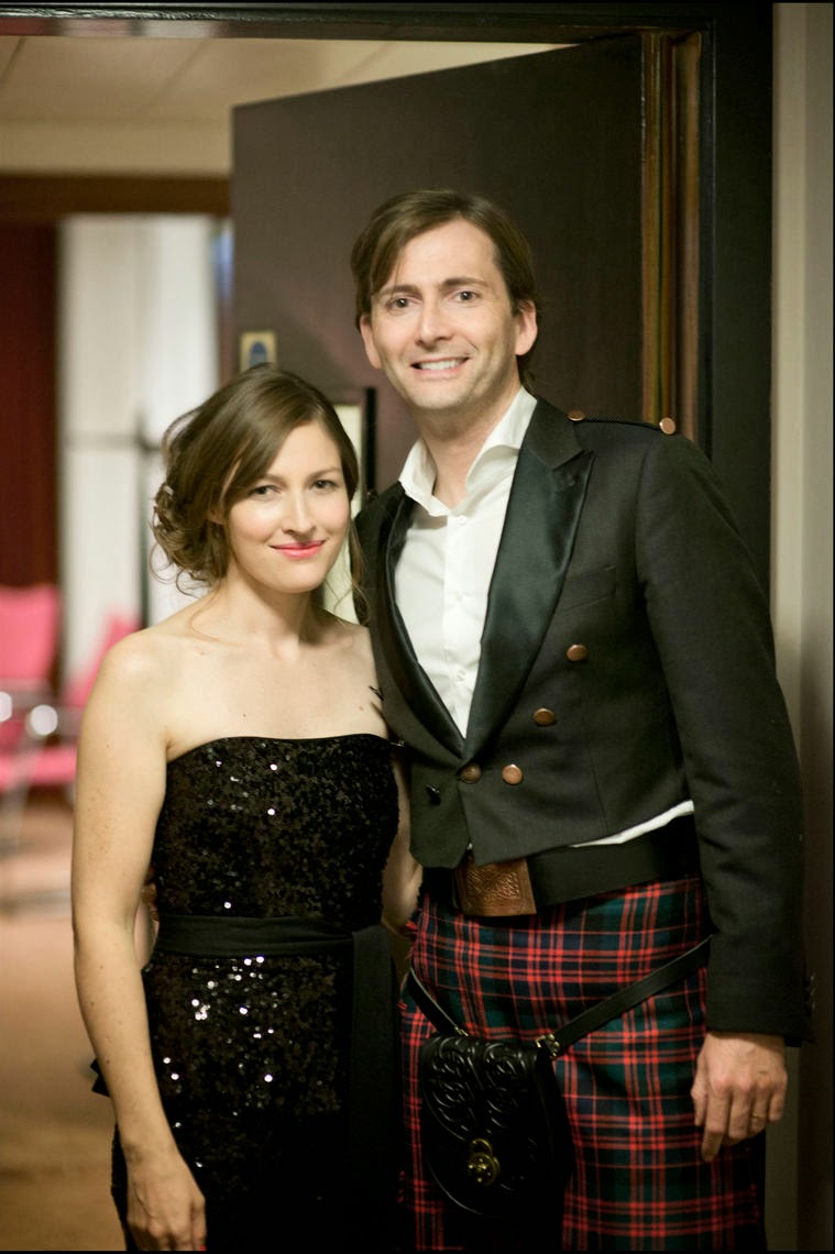 Photo of Kelly Macdonald & her friend  David Tennant