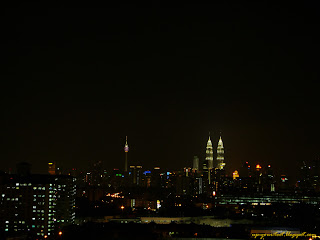 View of KL skyline and KLCC before Earth Hour 2012