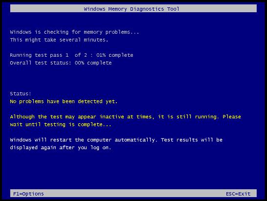 كيف تفحص الذاكرة RAM باستخدام ويندوز فيستا