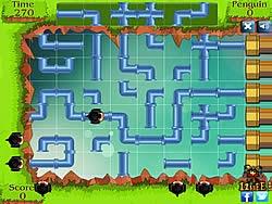 Cánh cụt thoát khỏi mê cung, game van phong
